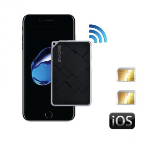 iPhone Dual SIM adapter with 2 phone numbers active at the