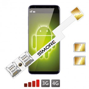 Speed ZX-Twin Nano SIM Dual SIM adapter for Android