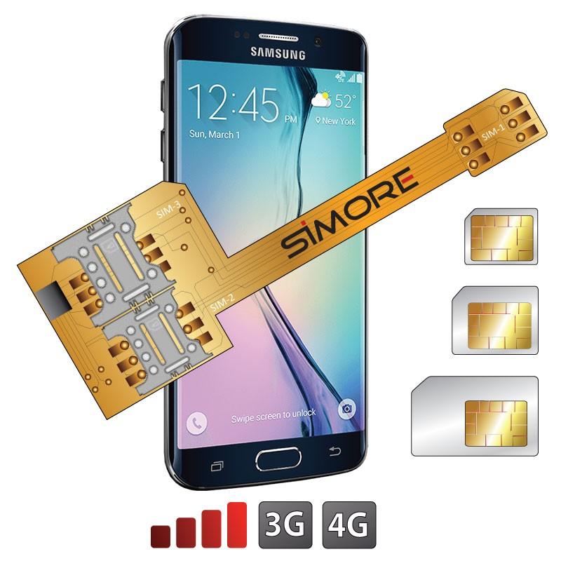 X-Triple Galaxy S6 Edge Triple dual SIM card adapter for Samsung Galaxy S6 Edge