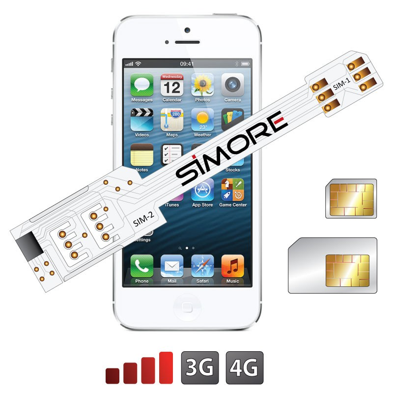iphone 5s no sim wx 5 5s dual sim adapter for iphone 5 and 5s 3474