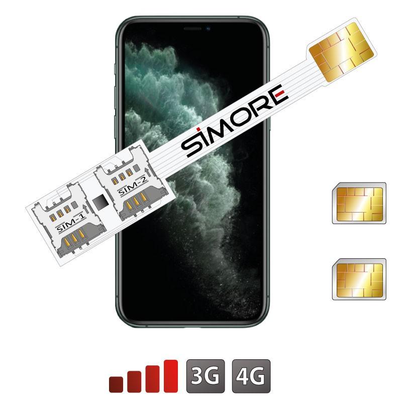 iPhone 11 Pro Dual SIM card adapter SIMore Speed Xi-Twin 11 Pro