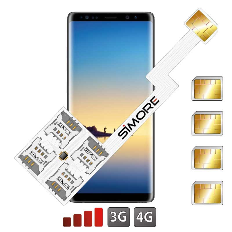 Galaxy Note 8 Quadruple Dual SIM card adapter Android for Samsung Galaxy Note 8