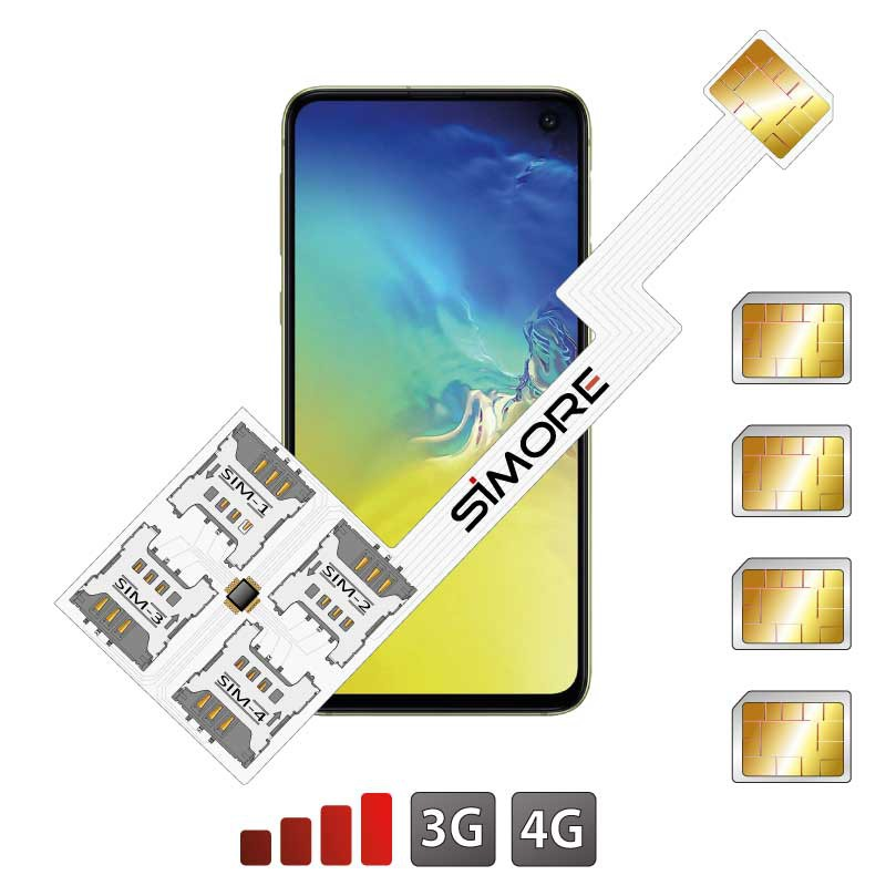 Galaxy S10e Quadruple Dual SIM card adapter Android for Samsung Galaxy S10e