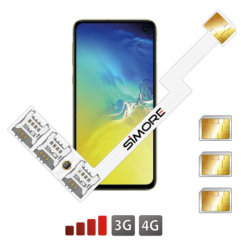 Galaxy S10e Triple Dual SIM card adapter Android for Samsung Galaxy S10e