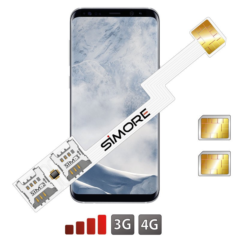 Galaxy S8+ dual sim card adapter Android SIMore