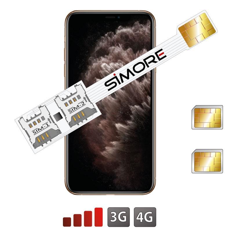iPhone 11 Pro Max Dual SIM card adapter SIMore Speed Xi-Twin 11 Pro Max