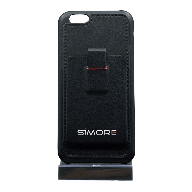 Protective cover for iPhone 6 and 6S with credit card sized pouch