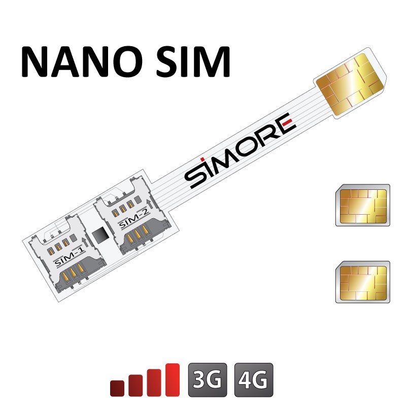 Speed X-Twin Nano SIM Dual SIM card adapter for Nano SIM card cellphones