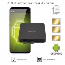 Android Dual SIM Active Adapter Router Converter with 2 or 3 numbers at the same time