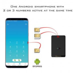 E-Clips Gold Android Dual SIM adapter Bluetooth Quad Band