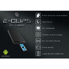 E-Clips Android Triple dual SIM cards active adapter for