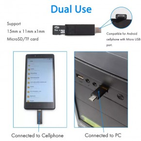 Phone stand SIM cards holder + Micro SD cards USB and Micro