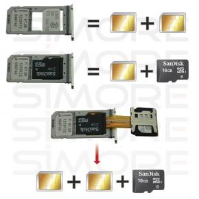 X-Extender SIM card extension adapter for hybrid Dual SIM