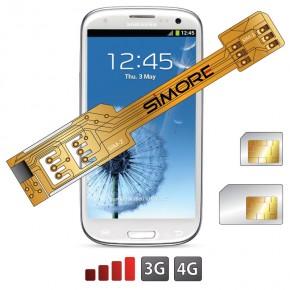 S3 Sim Karte.X Twin Galaxy S3 Doppel Sim Karten Adapter 3g 4g Fur Samsung