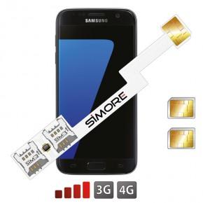Galaxy S7 Sim Karte.Speed Zx Twin Galaxy S7 Schutzhulle Doppel Sim Karten