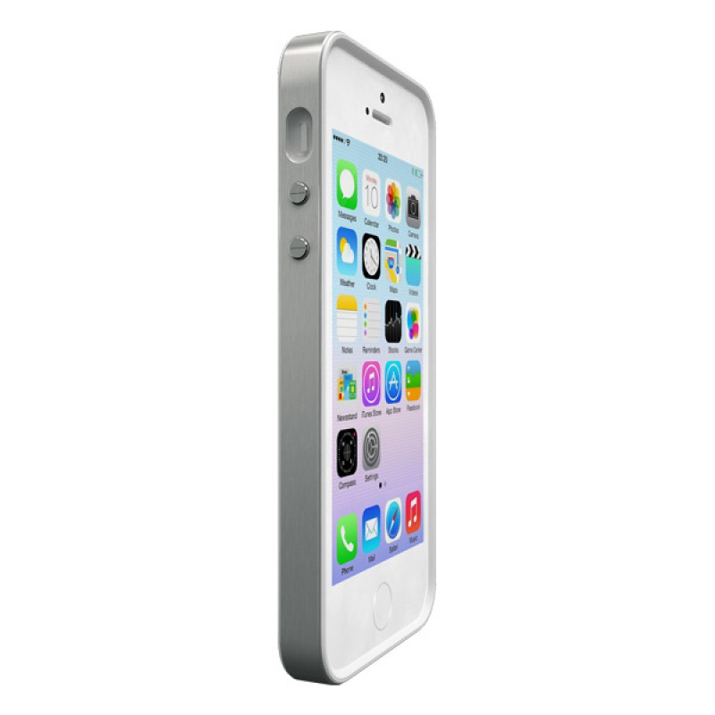 Protection case for iPhone SE, iPhone 5 and iPhone 5S - Alloy X Mono Silver