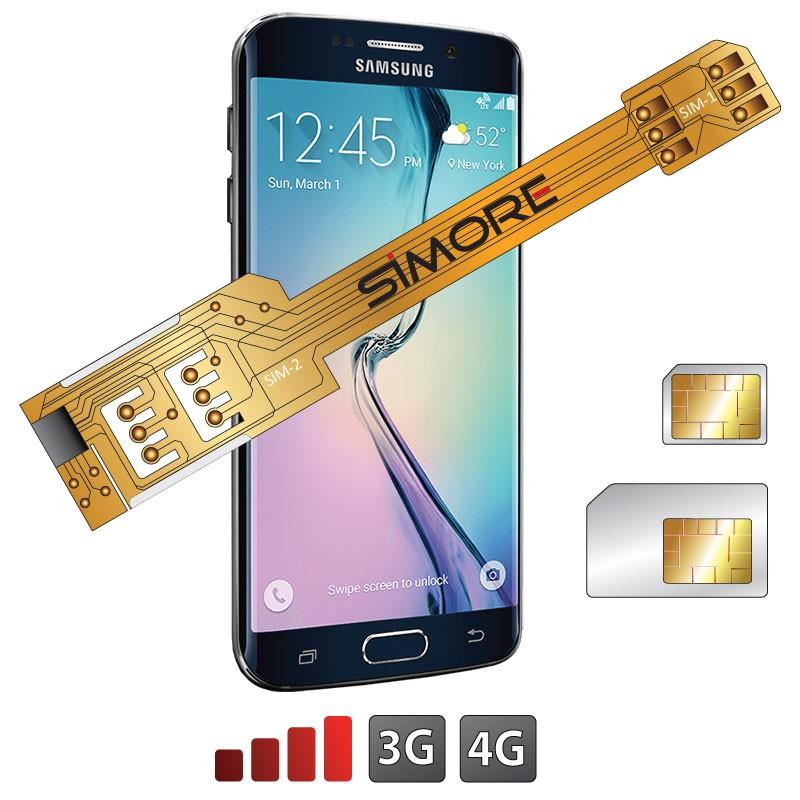 s6 edge sim karte X Twin Galaxy S6 Edge Doppel SIM karten adapter für Samsung Galaxy