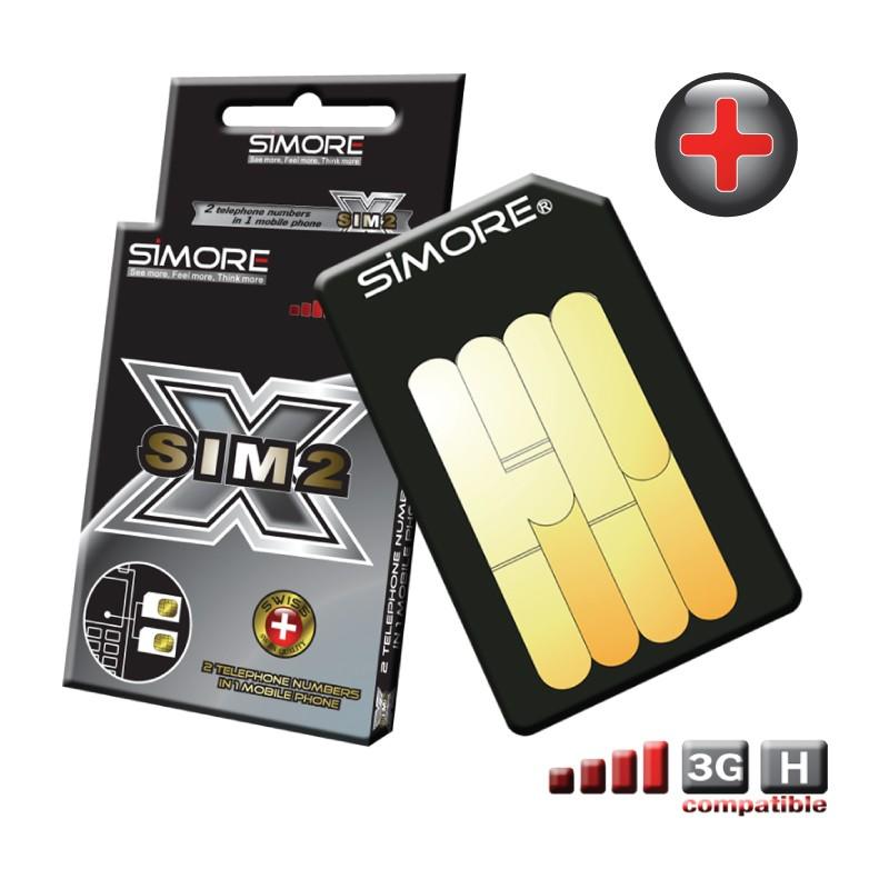 DualSim Platinum Plus Adapter doppel SIM karte für Handys 3G