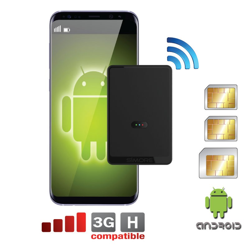 Dual SIM karten tripel adapter Bluetooth und MiFi Wifi Router für Android OS