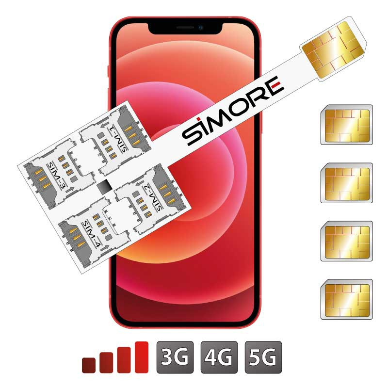 iPhone 12 Mini Multi Vierfach SIM Adapter SIMore