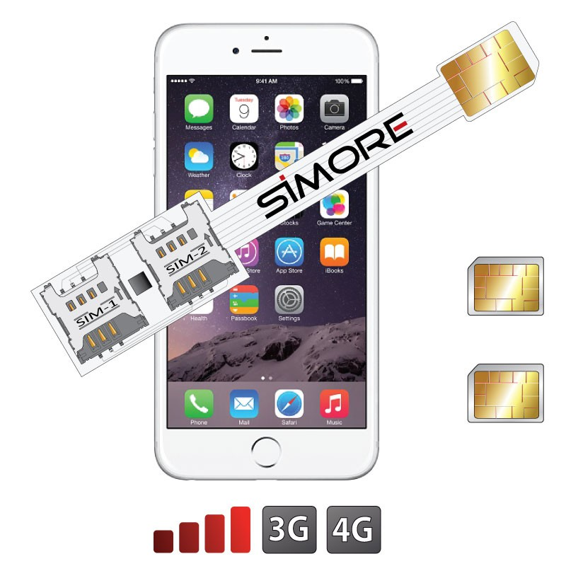 iPhone 6 Doppel SIM karten adapter Speed X-Twin 6 fuer iPhone 6