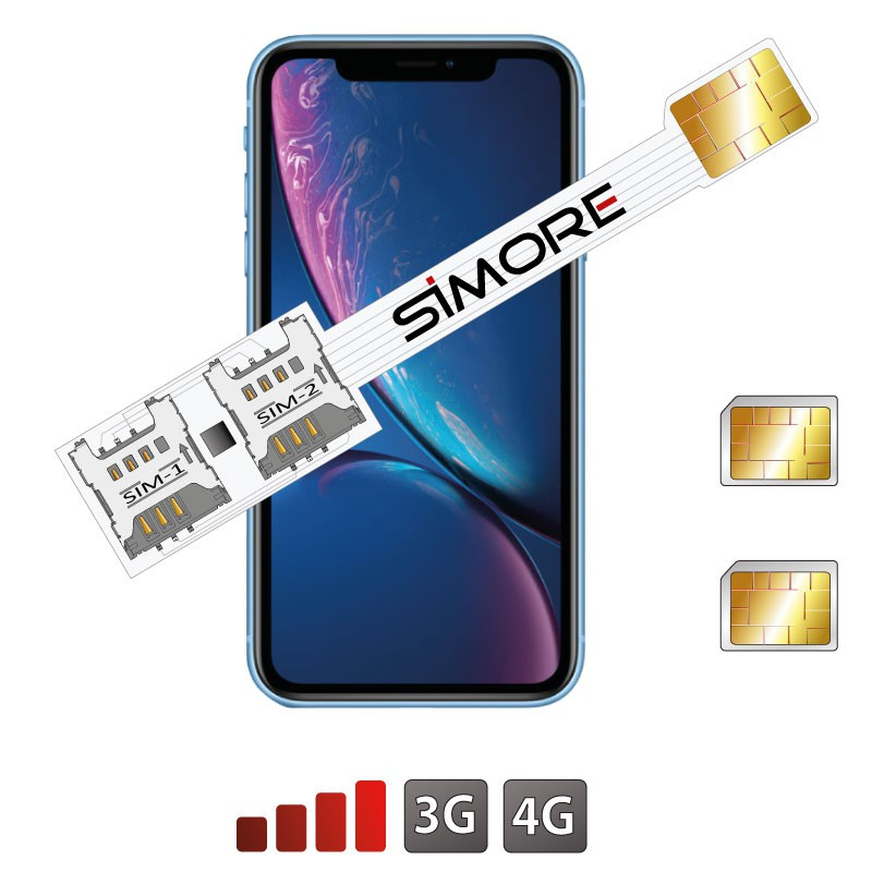 iPhone XR Dual SIM karte adapter SIMore Speed Xi-Twin XR