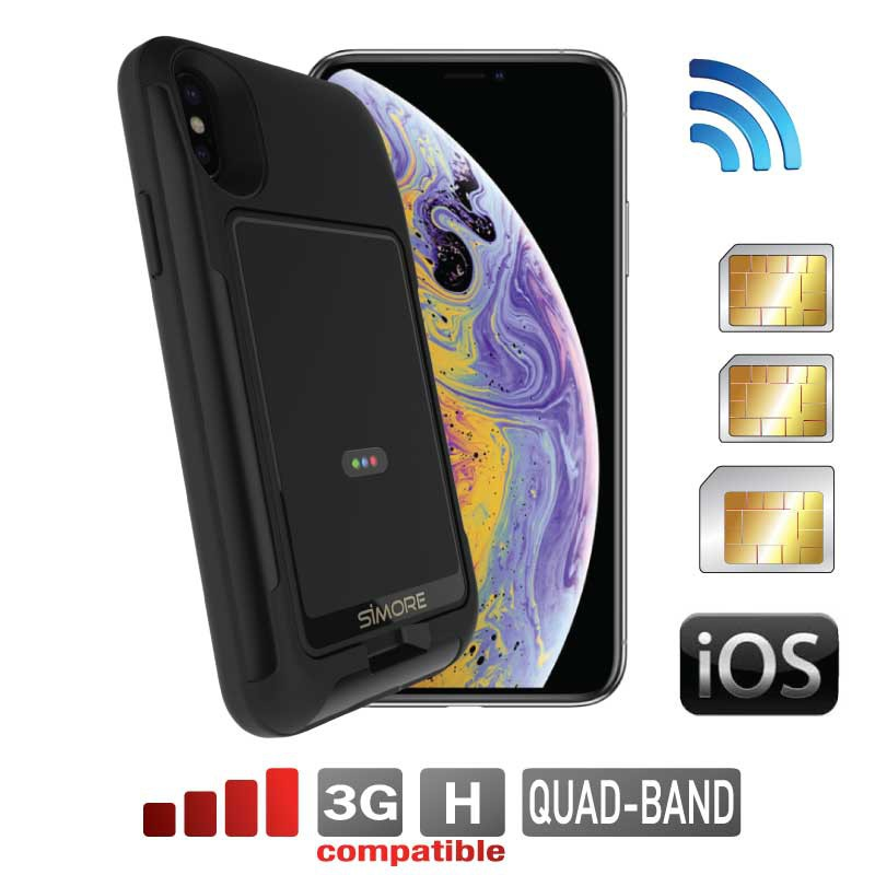 iPhone XS Dual SIM bluetooth aktiv adapter mit beide nummern gleichzeitig aktiv E-Clips Gold