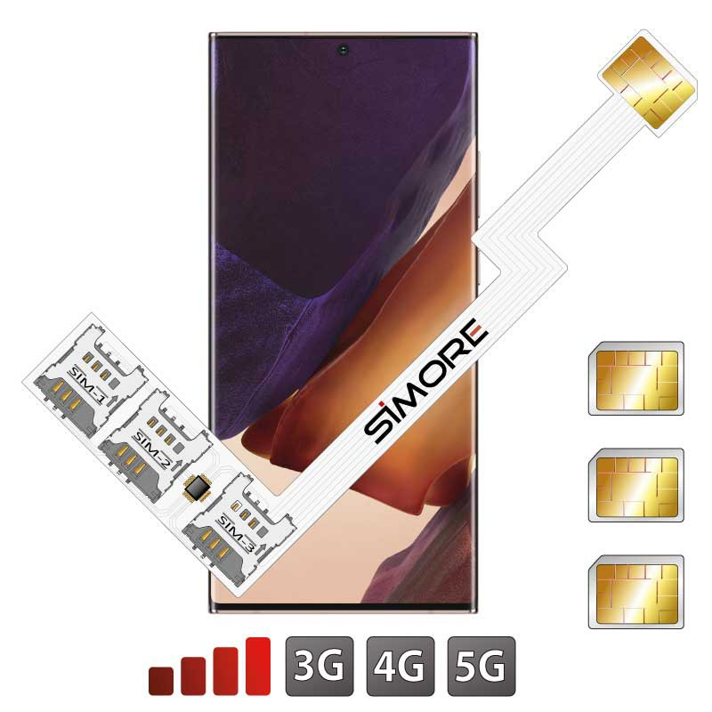 Galaxy Note20 Ultra Dreifach SIM Karten Adapter SIMore Speed ZX-Triple