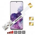 DUAL SIM Karten Adapter für Samsung Glaxy S20+