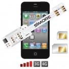 WX-Twin 4-4S Schutzhülle Dual SIM karte adapter für iPhone 4 und 4S