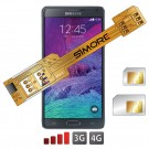 X-Twin Galaxy Note 4 Doppel SIM karte adapter für Samsung Galaxy Note 4