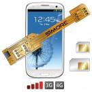 X-Twin Galaxy S3 Doppel SIM karte adapter für Samsung Galaxy S3