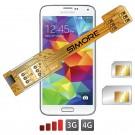 X-Twin Galaxy S5 Doppel SIM karte adapter für Samsung Galaxy S5