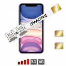 Dual SIM iPhone 11 karten adapter SIMore Speed Xi-Twin 11