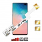 Galaxy S10+ Doppel SIM adapter Android SIMore