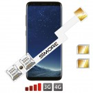 Galaxy S8 Dual SIM karte adapter Android