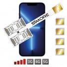 iPhone 13 Pro Dual Multi SIM karten adapter SIMore Speed X-Four 13 Pro