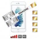 iPhone 6S Vierfach Multi-SIM karten adapter 4G Speed X-Four 6S
