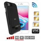 iPhone 8 7 6 6S Dual SIM adapter Bluetooth Schutzhülle und MiFi Wi-Fi Router E-Clips Gold