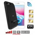 iPhone 8 7 6 6S Plus Dual SIM adapter aktiv bluetooth schutzhülle und MiFi Wi-Fi router
