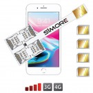 iPhone 8 Plus Multi SIM Vierfach karten adapter 4G Speed X-Four 8 Plus