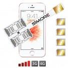 iPhone SE Multi-SIM karten Vierfach adapter 4G Speed X-Four SE
