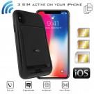 iPhone X Dual SIM Schutzhülle Bluetooth Adapter & Wi-Fi Router MiFi - DATA INTERNET Gleichzeitige Verbindungadapter