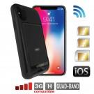 iPhone X Dual SIM adapter Bluetooth Schutzhülle und Wi-Fi Router fuer DATA INTERNET Gleichzeitige Verbindung