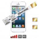 iPhone 5-5S Doppel SIM karten adapter Speed X-Twin 5-5S für Apple iPhone 5-5S