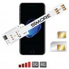 QS-Twin 7 Schutzhülle Dual SIM karte adapter für iPhone 7