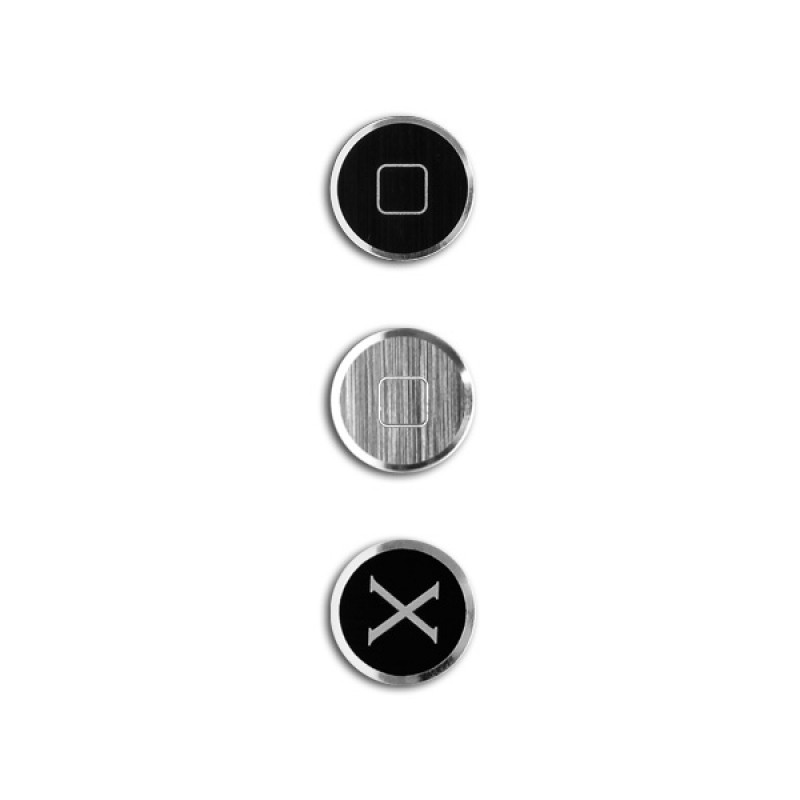 Home Button for iPhone and iPad - Alloy X Home Black Grey