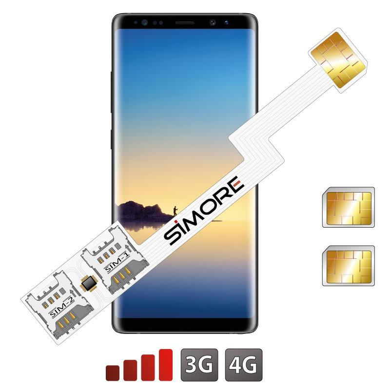 Galaxy Note8 Adattatore Doppia SIM Android SIMore