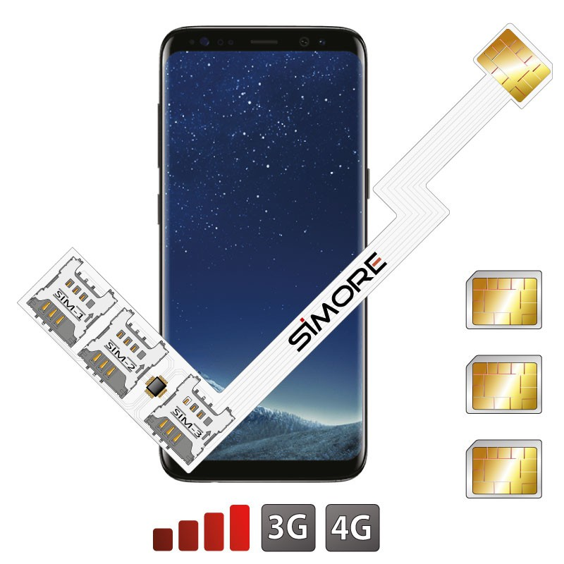 Galaxy S8 Adattatore Tripla Dual SIM Android per Samsung Galaxy S8