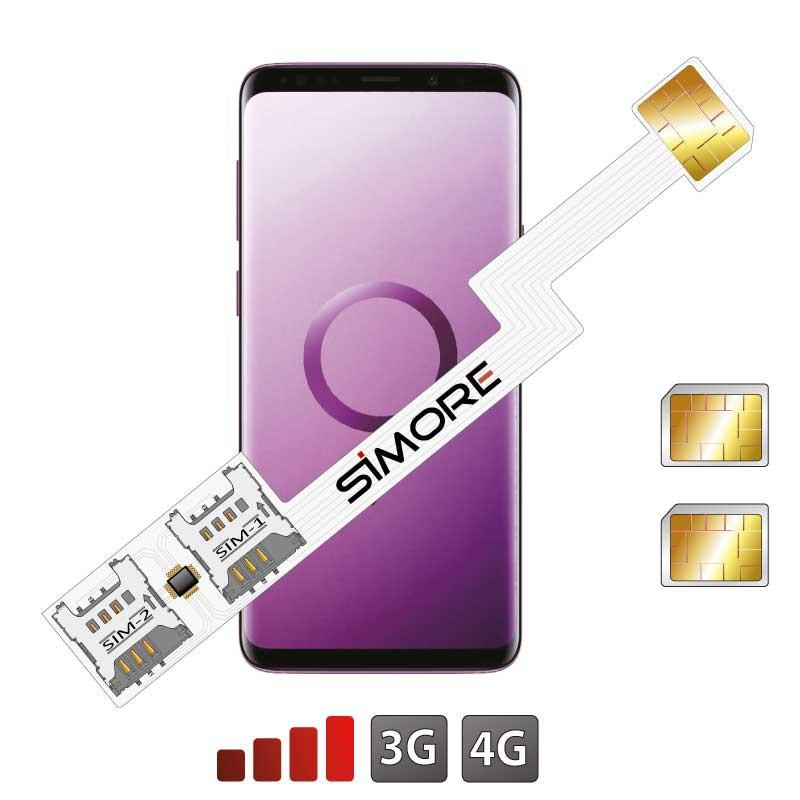 Galaxy S9 doppia SIM adattatore SIMore